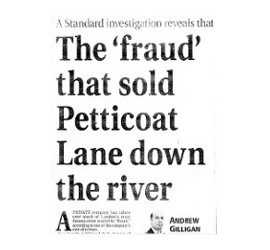 Holland Estate fraud - Petticoat Lane given away for nothing